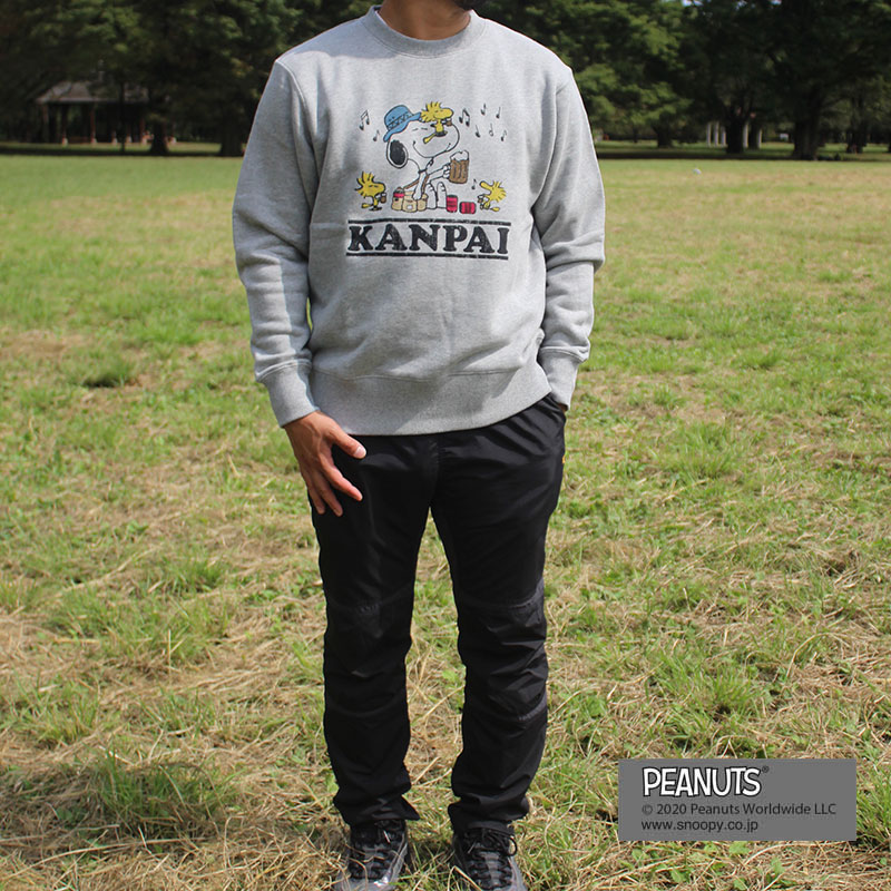 KANPAI SNOOPY CREW SWEAT (H.GRAY)
