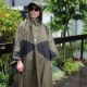 HASSUI HASSUI PONCHO(OLIVE)