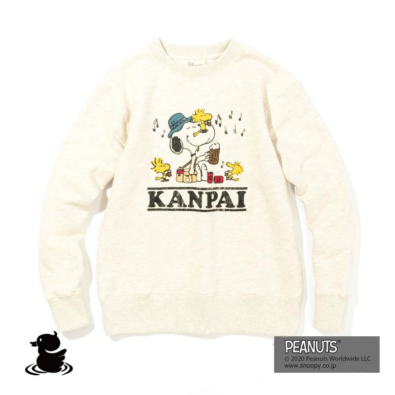 KANPAI SNOOPY CREW SWEAT (OATMEAL)