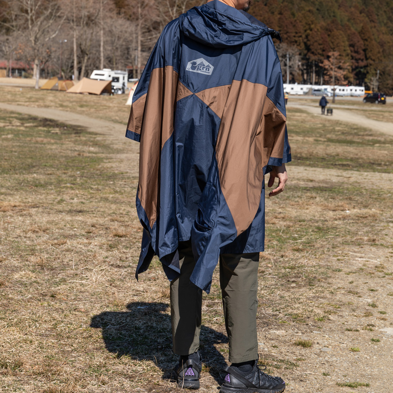 HASSUI HASSUI PONCHO(NAVY)