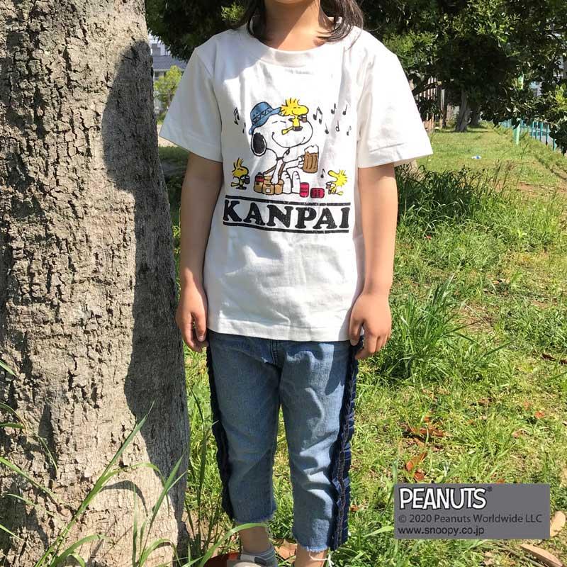 KANPAI SNOOPY S/S TEE(KIDS)(WHITE)