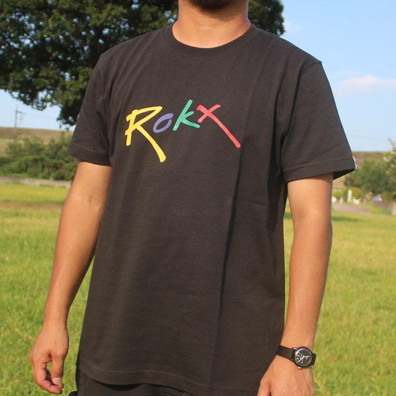 ROKX LOGO S/S TEE(SMOKE)