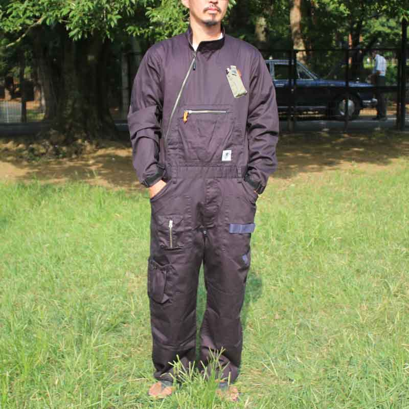 HIASOBI BIG BEN JUMP SUIT(BLACK)