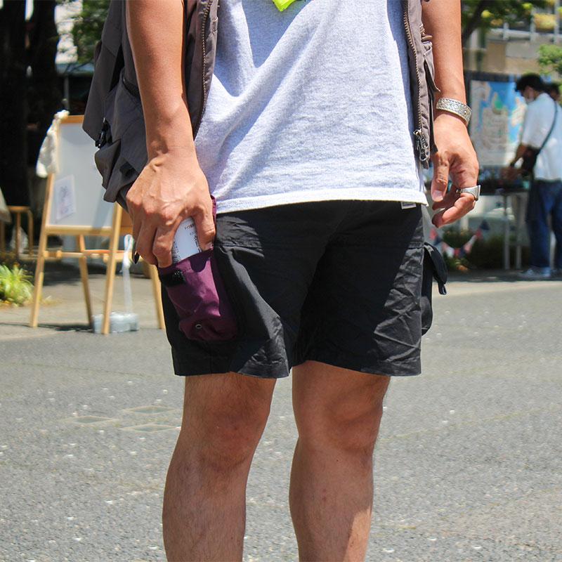 TEBURA SHORTS  FREAKS STORE別注(BLACK)