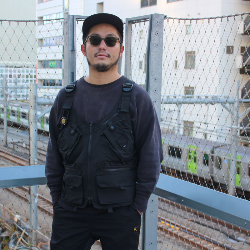 TEBURA VEST ROOT CO. Collaboration Model (BLACK)