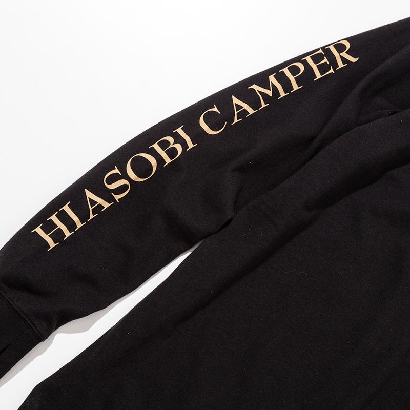 HIASOBI CAMPER L/S TEE(BLACK)