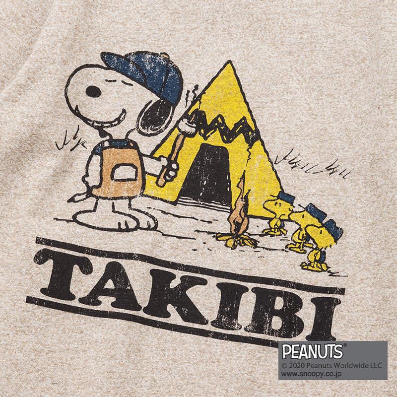 TAKIBI SNOOPY S/S TEE(H.MOCHA)