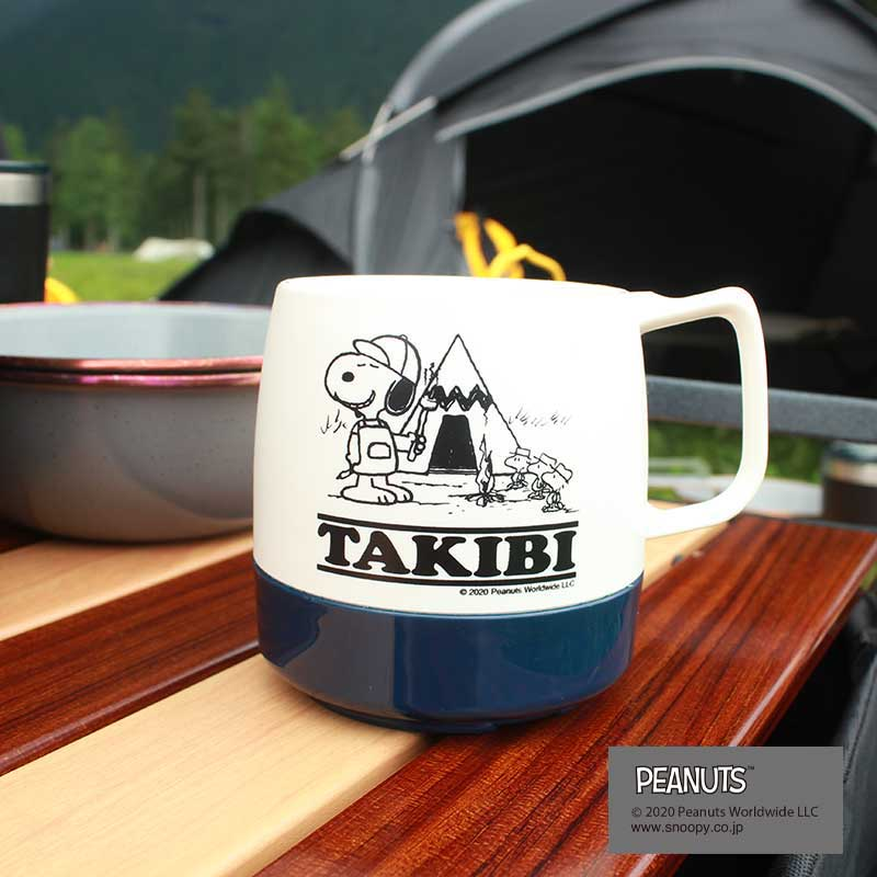 DINEX MUG SNOOPY(NAVY)(TAKIBI)
