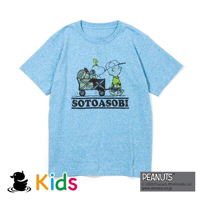 SOTOASOBI SNOOPY S/S TEE(KIDS)(H.BLUE)