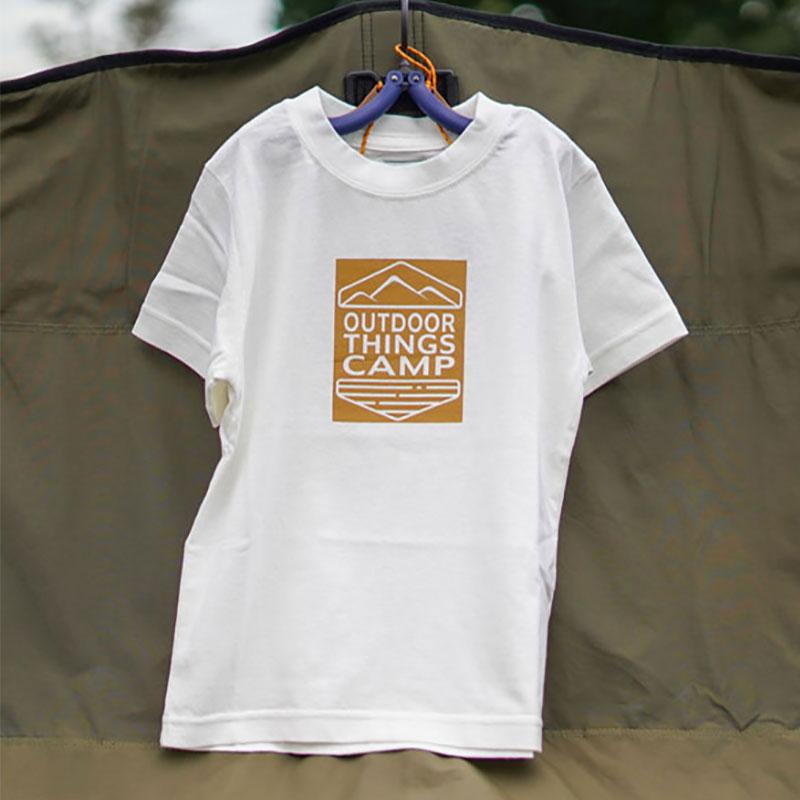 OTC HIASOBI CAMPER S/S TEE(KIDS)(WHITE)