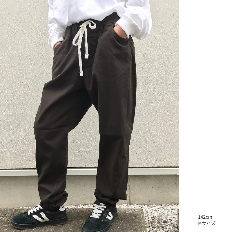 チノスウェット型パンツ