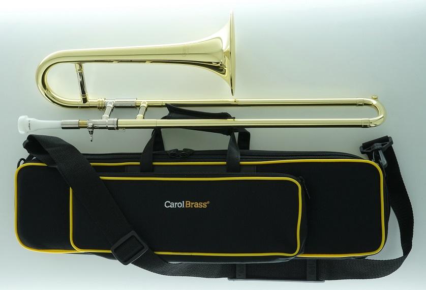 CarolBrass(キャロルブラス) ミニトロンボーン(スライドトランペット) N1005 CL イエローブラス・ラッカー