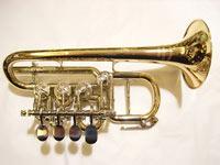 WILLENGERG(ヴィレンベルグ) B♭/A管ロータリーピッコロトランペット・ゴールドブラス High Bb/A