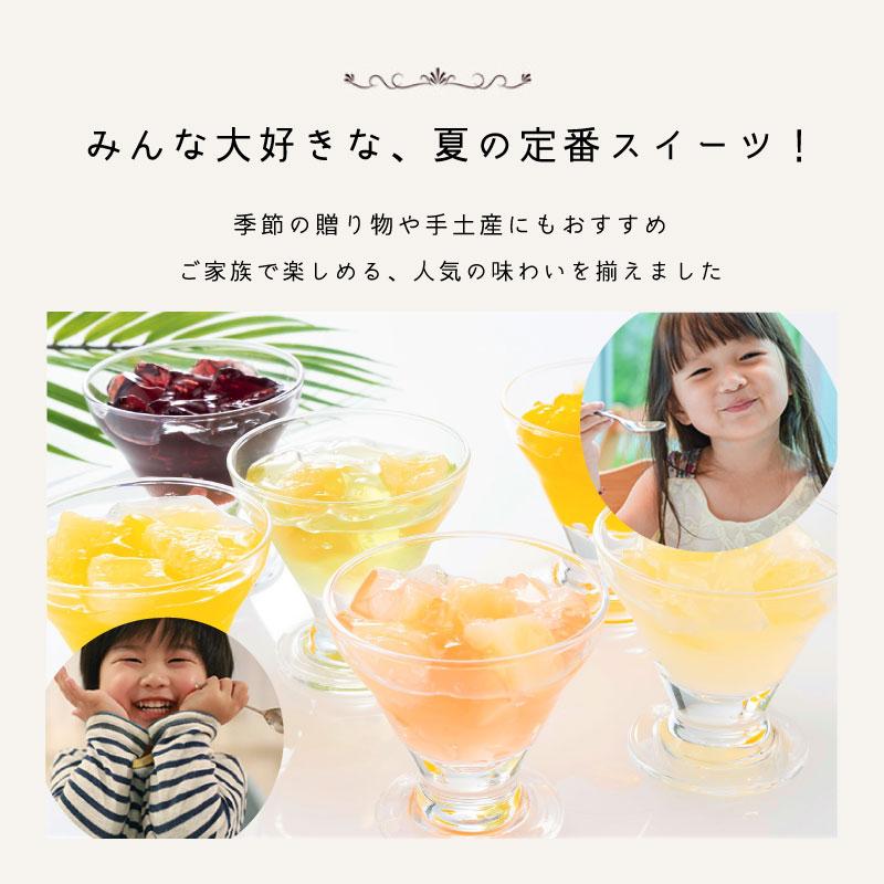 【暑中御見舞熨斗】和素材フルーツゼリー 6個入