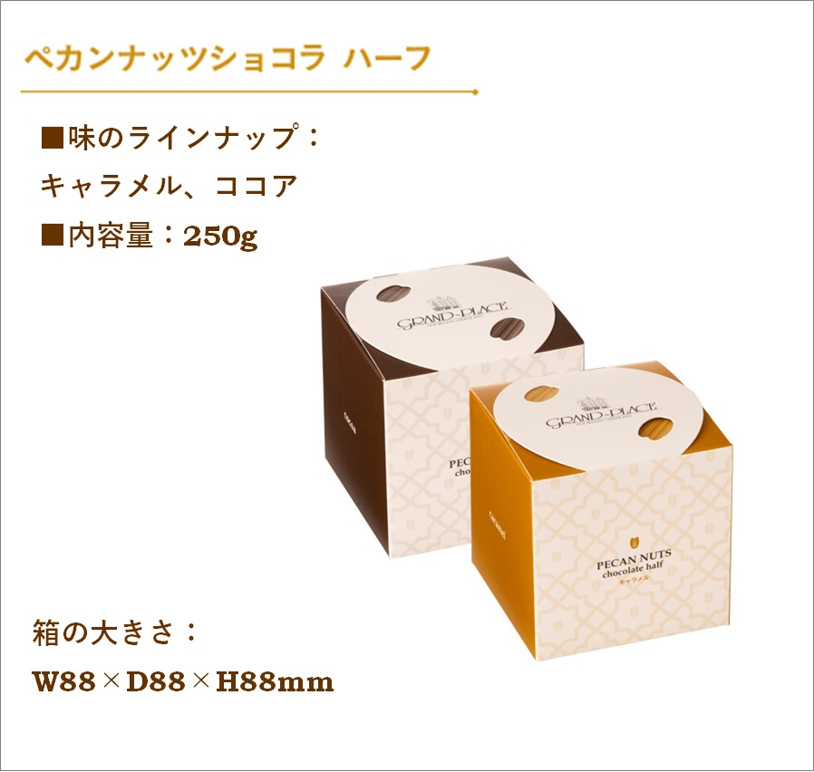 ペカンナッツショコラ ハーフ 250g(キャラメル/ココア)【熨斗不可】