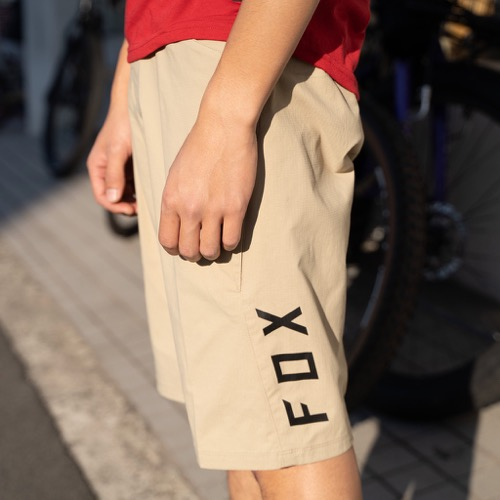 FOX RANGER SHORTS TAN フォックス レンジャーショーツ マウンテンバイク MTB ダウンヒル トレイルライド 短パン インナーパッド付属