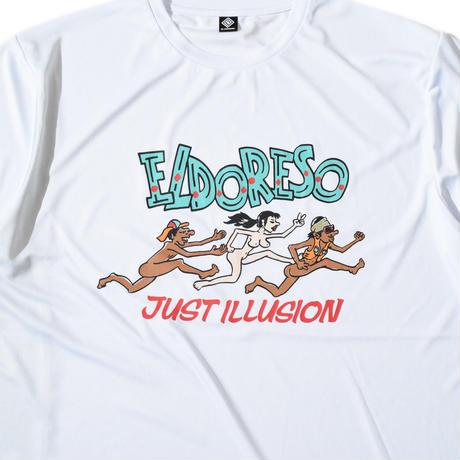 Illusion T(White) ELDORESO エルドレッソトレラン ランニング マラソン Tシャツ