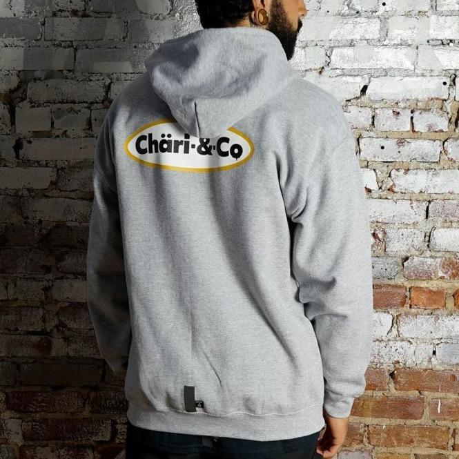 【30%OFF】ICE CREAM LOGO ZIP UP HOODIE SWEATS GRAY スウェット Lサイズ Chari&Co チャリアンドコー