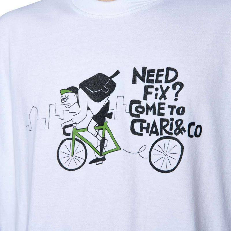 x HANAI YUSUKE NEED FIX? TEE Tシャツ Chari&Co チャリアンドコー