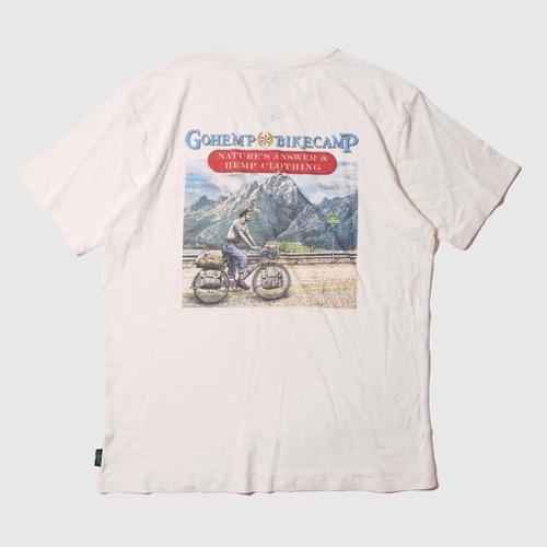 BIKE CAMP S/SL TEE GOHEMP ゴーヘンプ GHC4200BIK2 Tシャツ アウトドア キャンプ カジュアル 自転車 ツーリング