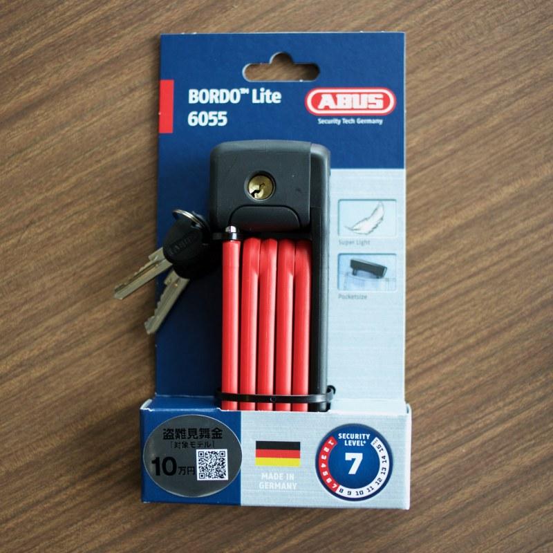 ABUS BORDO LITE MINI 6055 60/5 アブス 自転車 鍵 盗難防止 駐輪