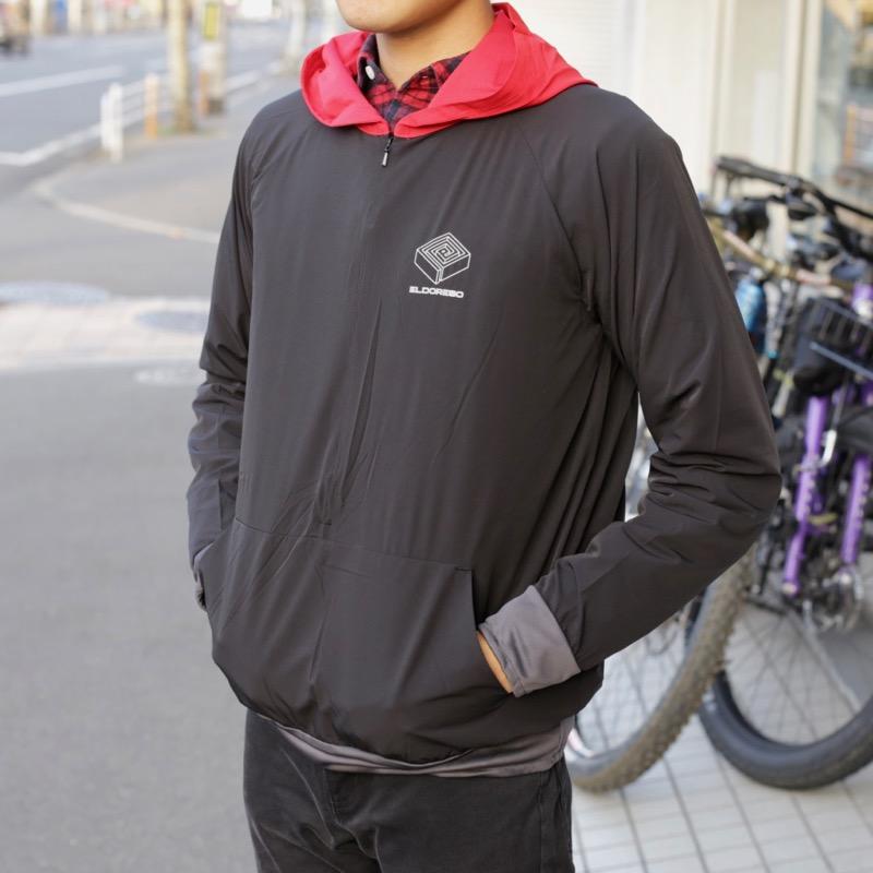 Distance Parka(Black) ELDORESO エルドレッソトレラン ランニング マラソン