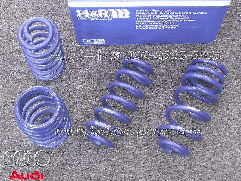 【H&R Sport Springs】スポーツスプリング|アウディ A6 F2 アバント 40 TDI / 45 TFSI / 55 TFSI クワトロ ダイナミックサスペンション車【Audi A6 Avant quattro】【28687-3】