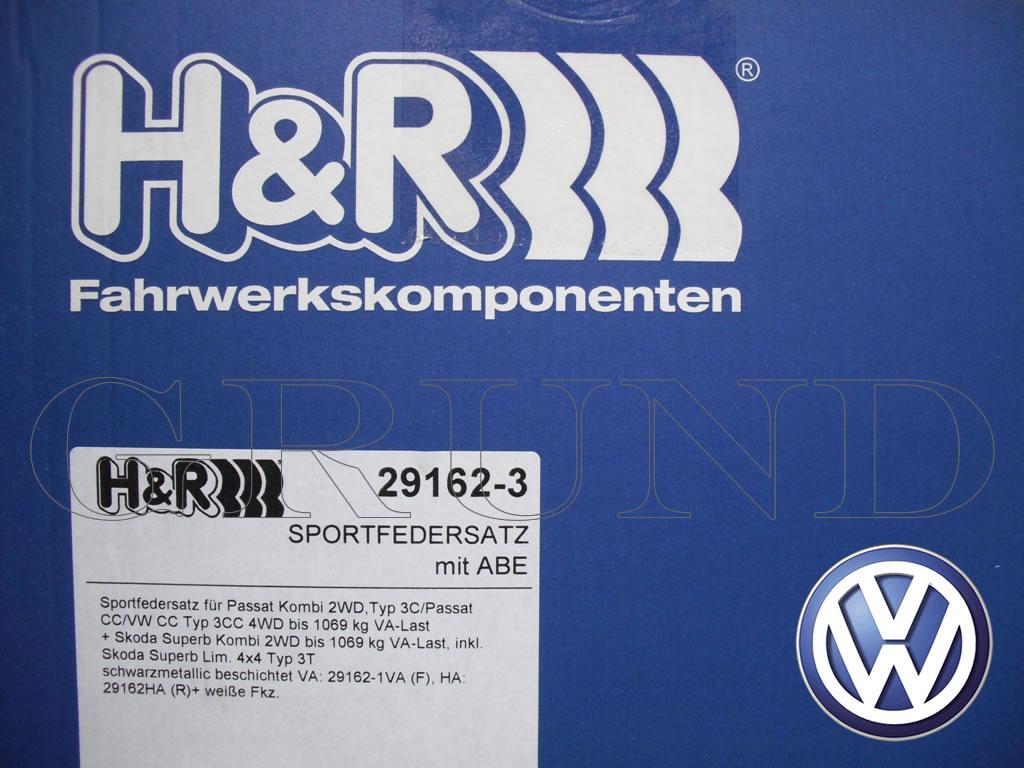 【H&R Sport Springs】スポーツスプリング|フォルクスワーゲン パサート ヴァリアント 4気筒【Volkswagen Passat 3C】【29162-3】