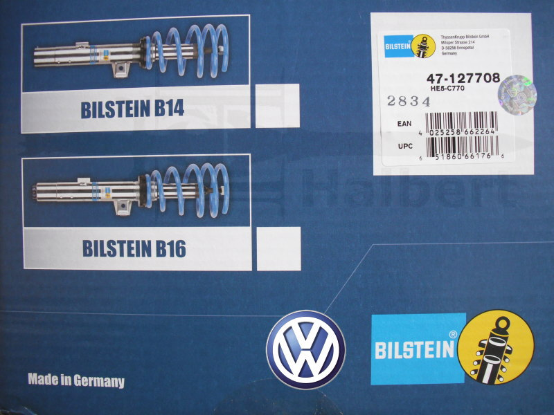 【BILSTEIN B14 PSS】ビルシュタイン ネジ式車高調整キット フォルクスワーゲン ゴルフ トゥーラン【Volkswagen Touran】BSSC770【送料無料】
