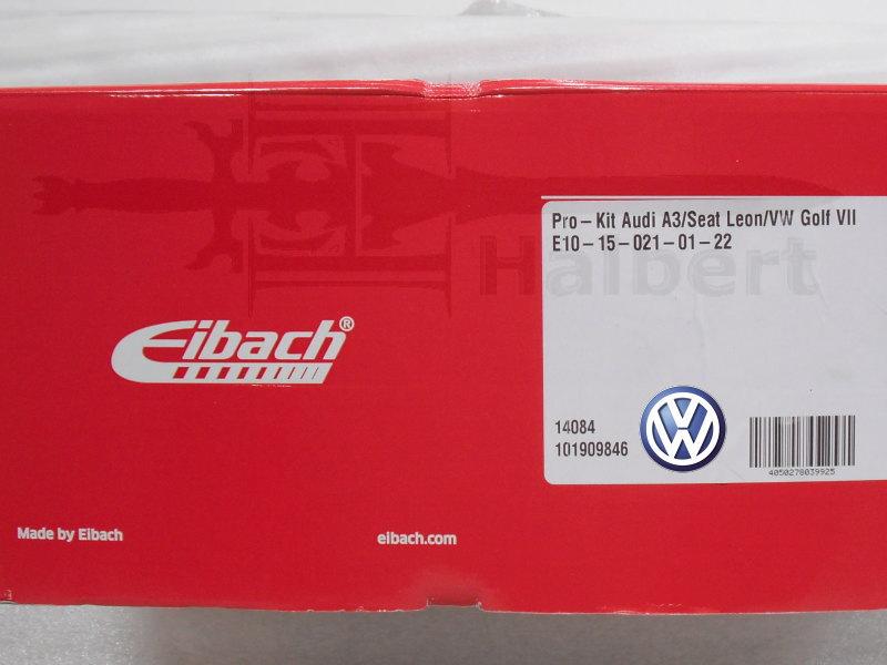 【正規輸入品】Eibach PRO-KIT【アイバッハ プロキット コイルスプリング|フォルクスワーゲン ゴルフ7 1.4TSI ハイライン】Volkswagen Golf【10-15-021-01-22】送料無料