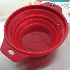イタリアンデザインのペタンコ水飲みボウル(カラビナをプレゼント中!)