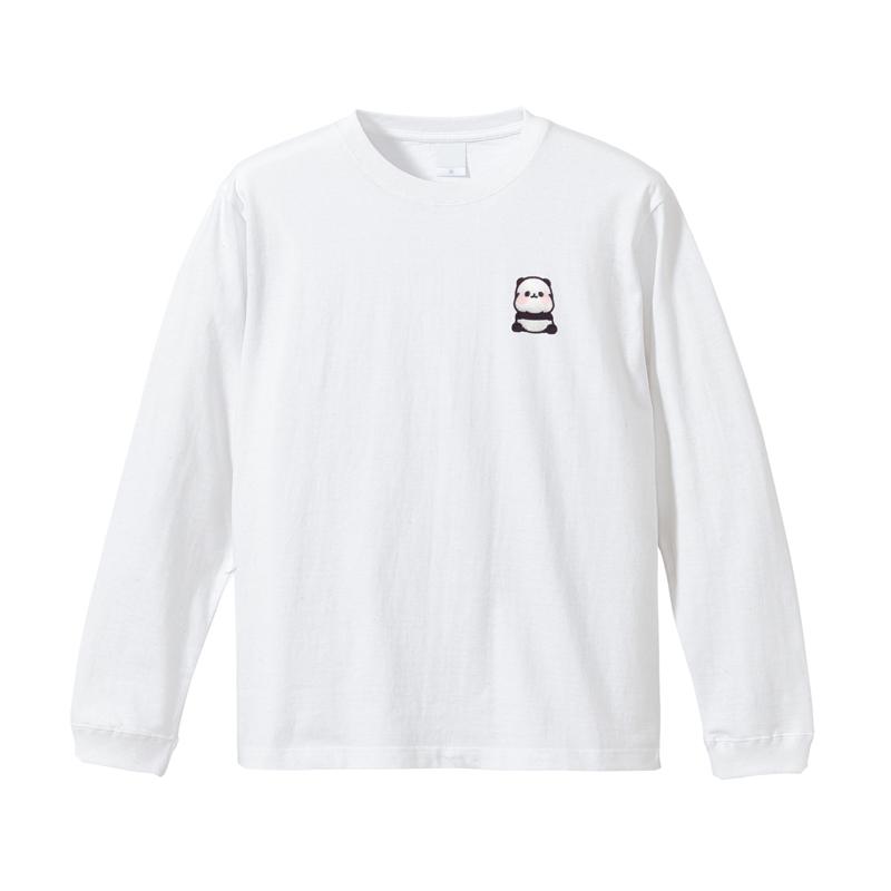ゆるりんぱんだ 刺繍ロングTシャツ L