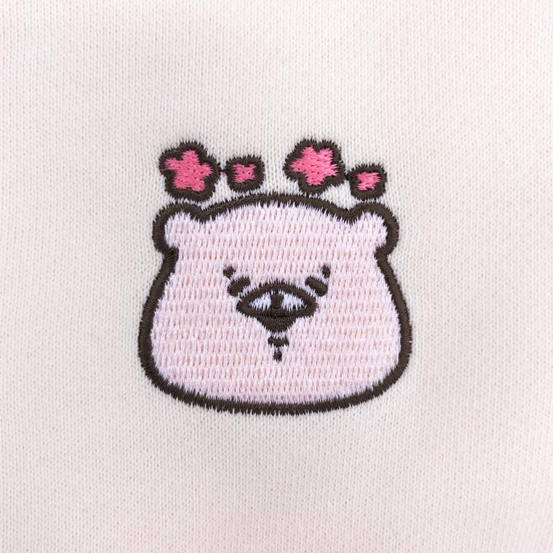 ともだちはくま 刺繍パーカー (えがお) L