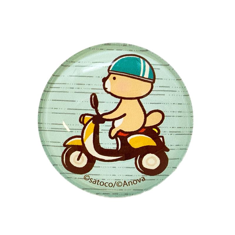 突撃!ラッコさん ガラスマグネット バイク