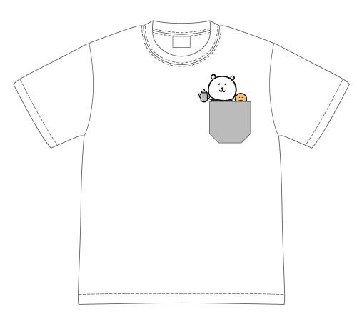 自分ツッコミくま ポケットTシャツ