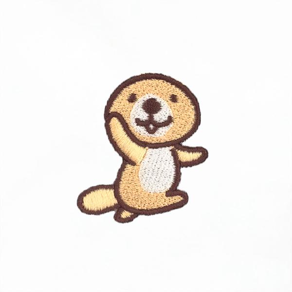 突撃!ラッコさん 刺繍ロングTシャツ M