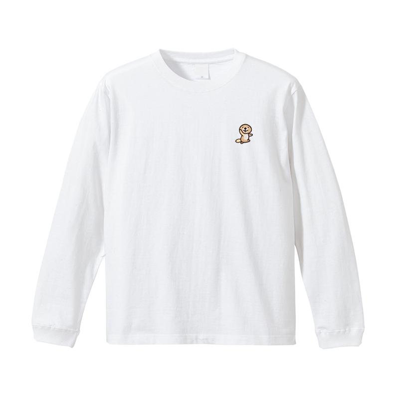 突撃!ラッコさん 刺繍ロングTシャツ L