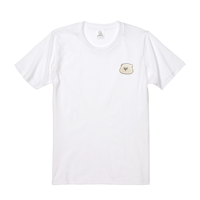 ともだちはくま 刺繍Tシャツ ホワイト  M