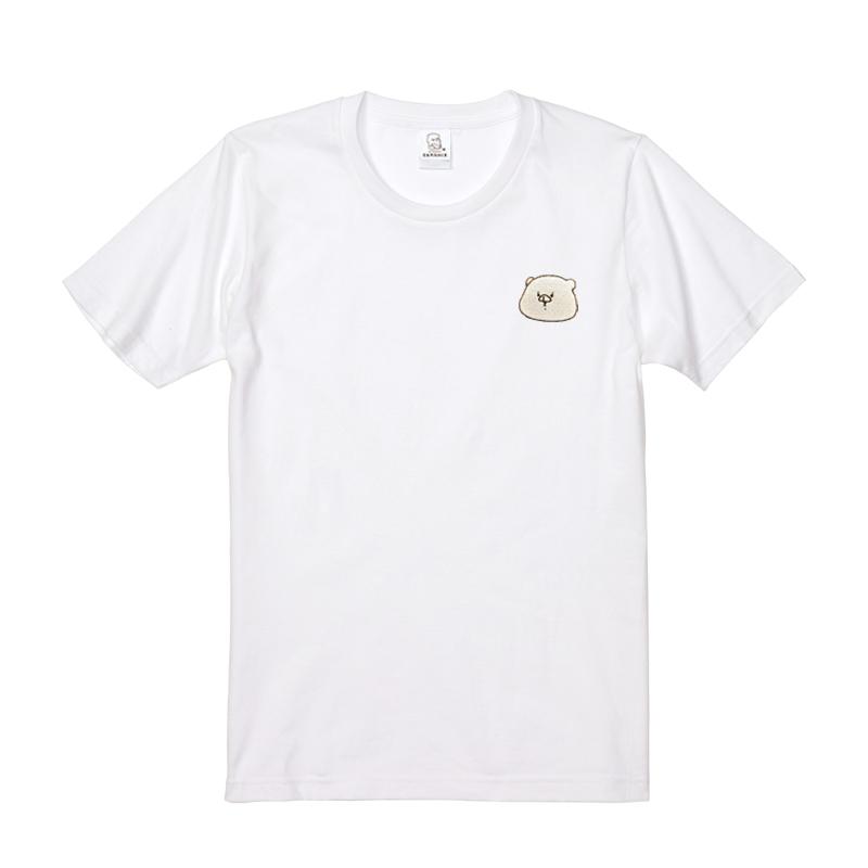 ともだちはくま 刺繍Tシャツ ホワイト  L