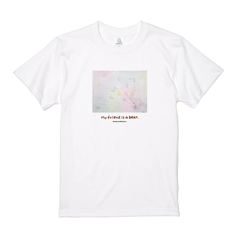 ともだちはくま Tシャツ (ふうせんとくま) M