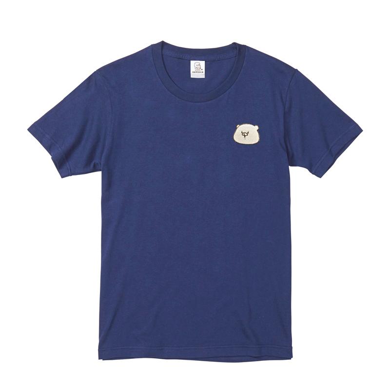 ともだちはくま 刺繍Tシャツ インディゴ  M