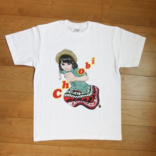 女子ライターイラストTシャツ/ちょび(あかいこうじ)