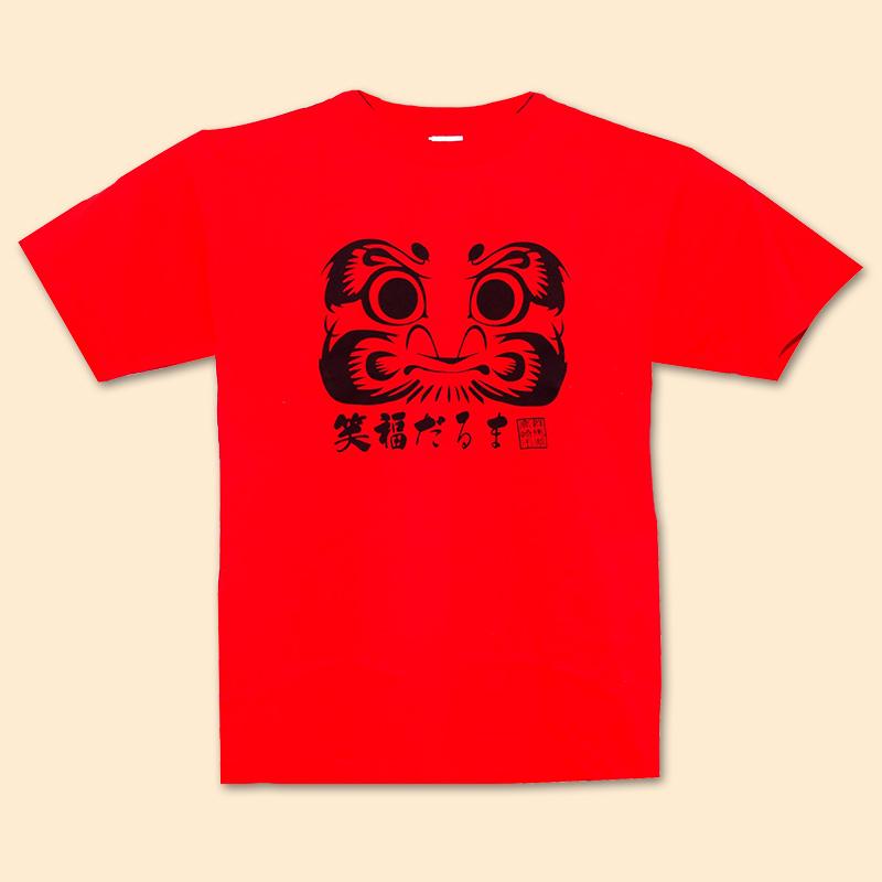 笑福だるまTシャツ