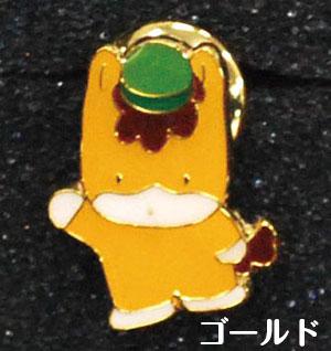 ぐんまちゃんピンバッジ(BLK/GOLD)