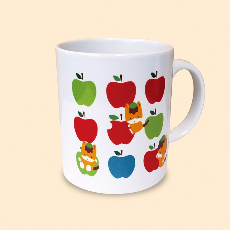 【ほっとひと息♪】ぐんまちゃんマグカップ(アップル)