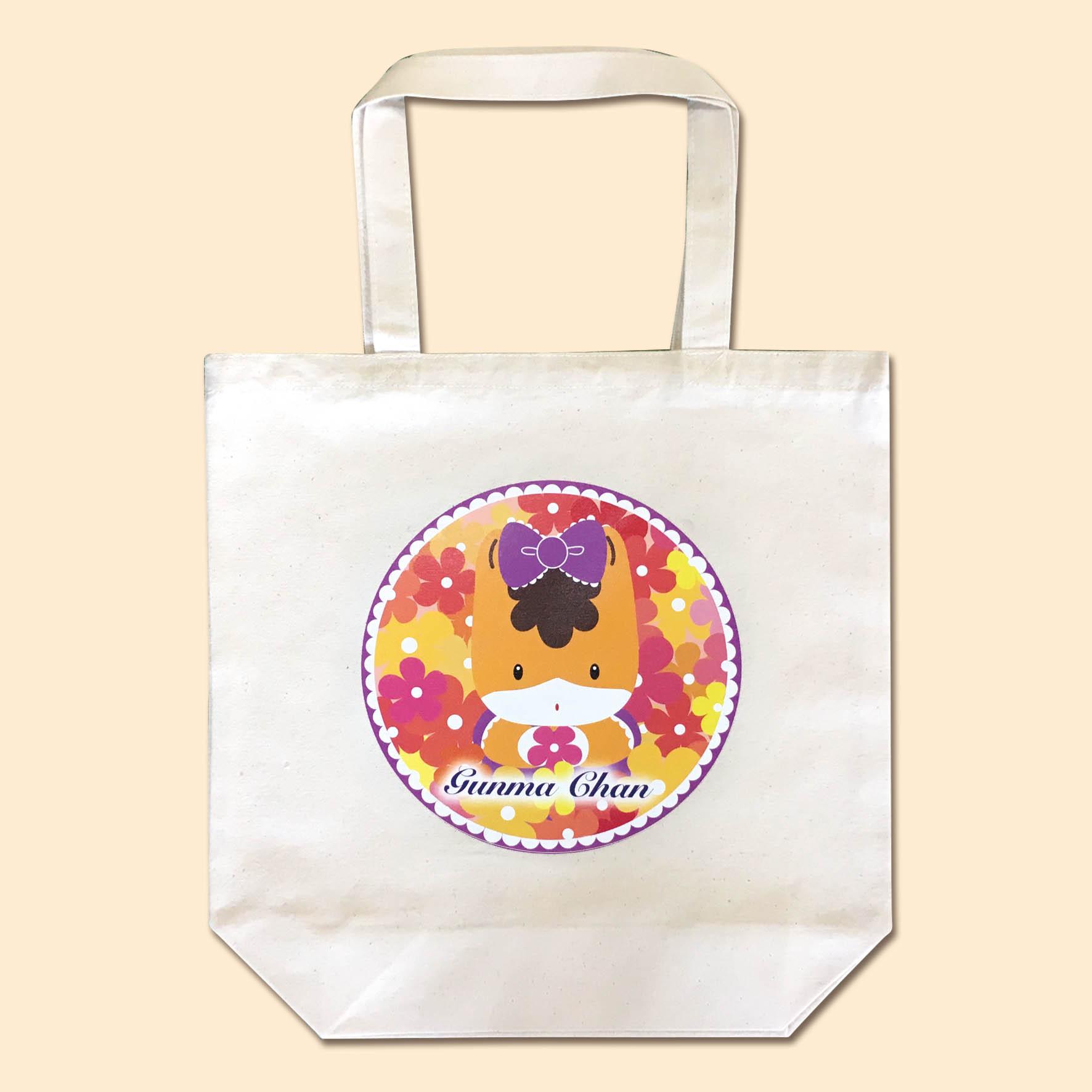 【ちょうどいいサイズ】ぐんまちゃんトートバッグ(花束)Mサイズ