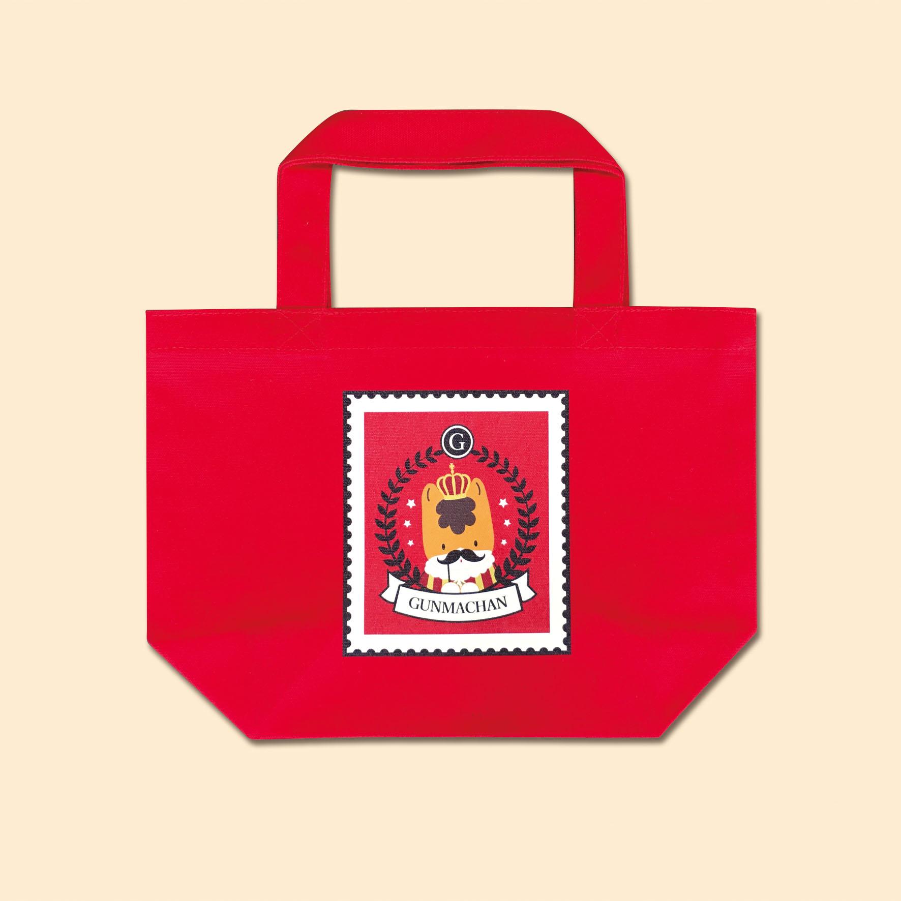 【お買い物に♪】ぐんまちゃんトートバッグ(切手)Sサイズ