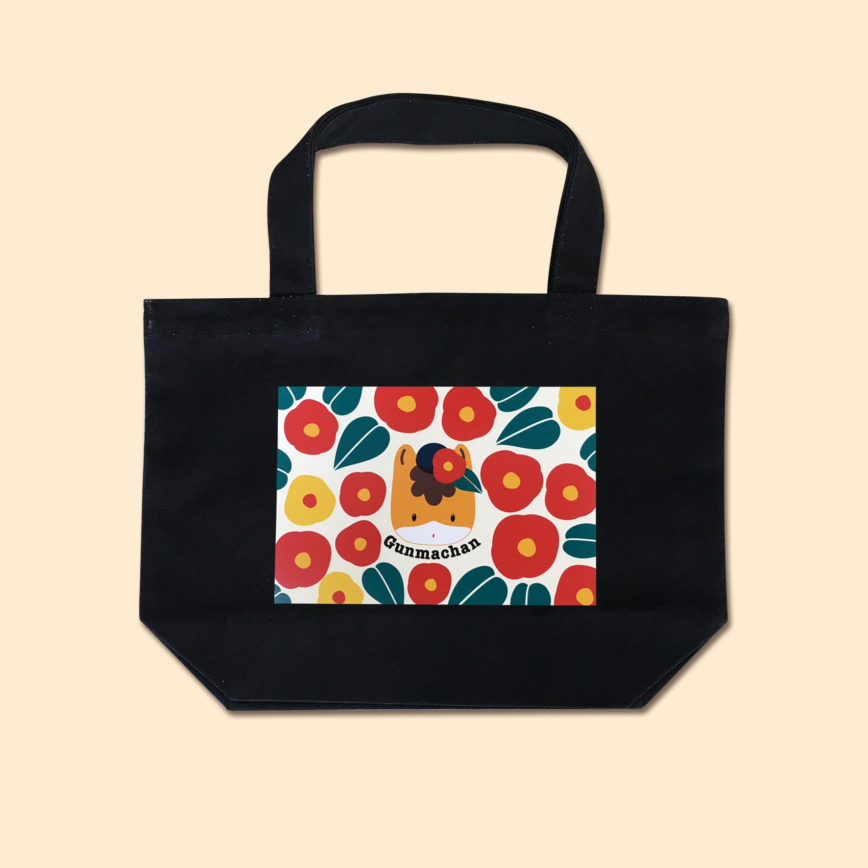 【お買い物に♪】ぐんまちゃんトートバッグ(ツバキ)Sサイズ