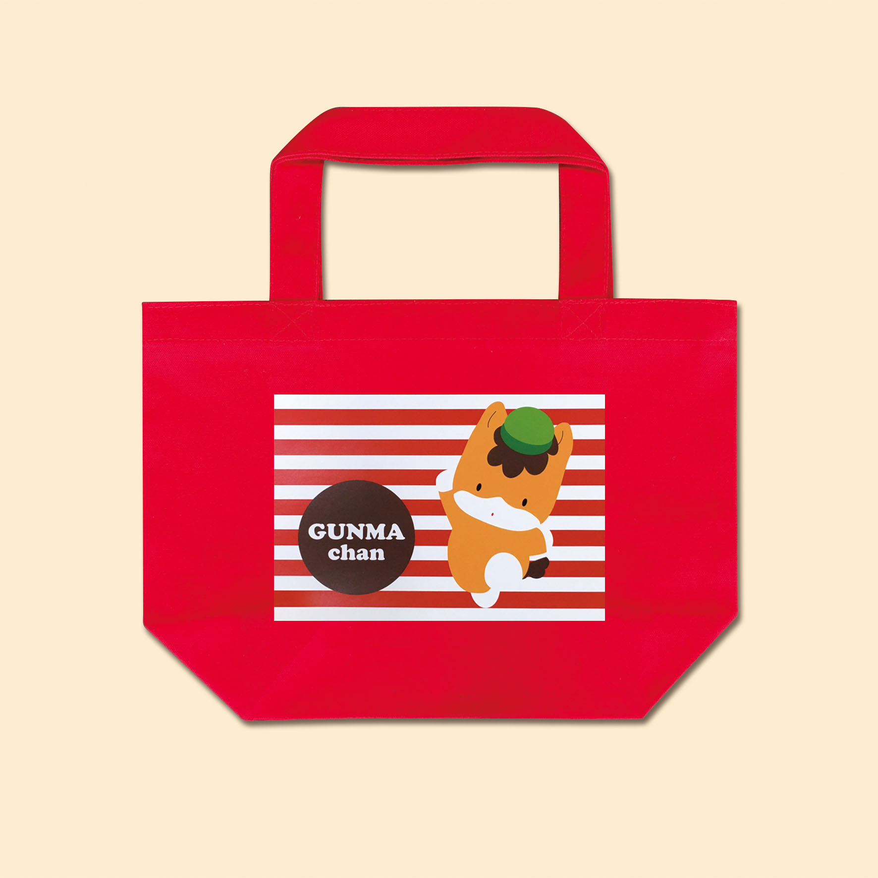 【お買い物に♪】ぐんまちゃんトートバッグ(赤)