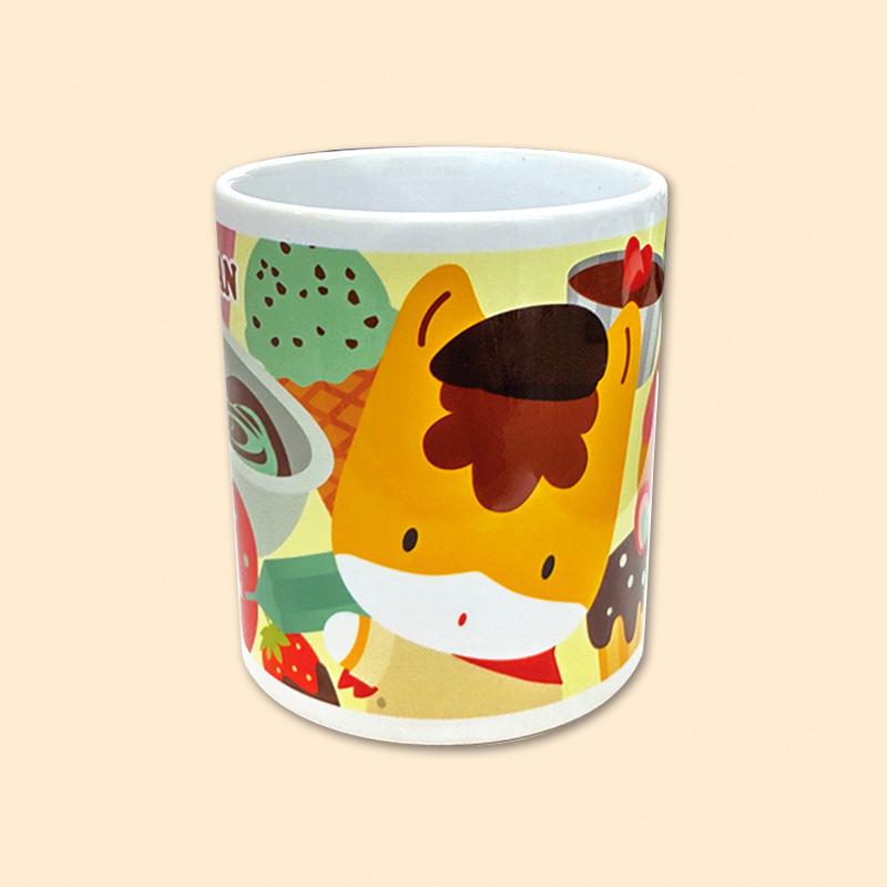 【ほっとひと息♪】ぐんまちゃんマグカップ(チョコ)